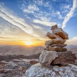 Stones on top